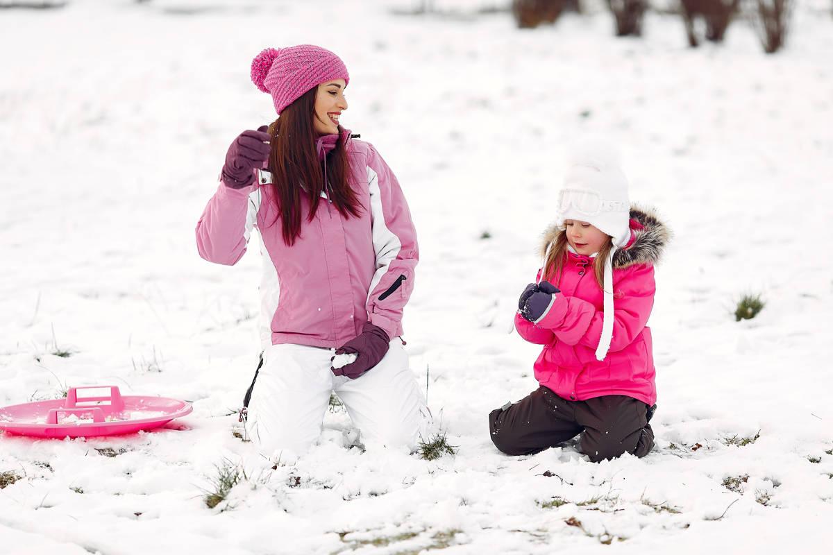 prima volta sulla neve